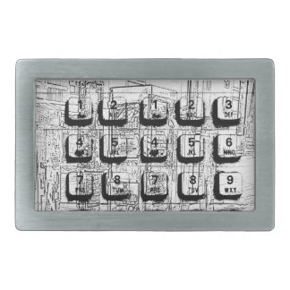 pay phone keypad dial collage belt buckle