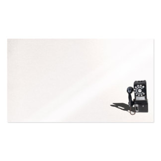Pay telephone business card