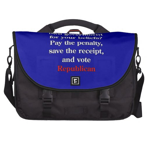 Pay the penalty, vote Republican Commuter Bags