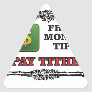 pay tithing tip triangle sticker