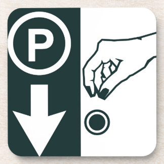 Pay To Park Sign Coaster