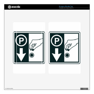 Pay To Park Sign Decal For Kindle Fire