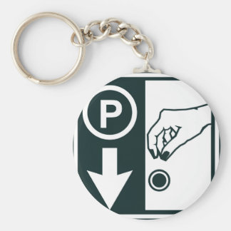 Pay To Park Sign Keychain
