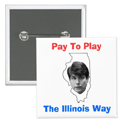 Pay To Play 2 Inch Square Button