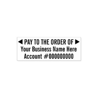 Pay to the order of Basic Business Deposit 2 Lines Self-inking Stamp