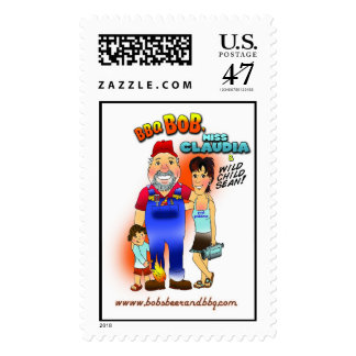 Pay Your Bills with Bob! Postage Stamp