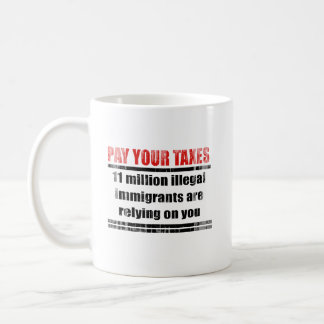 Pay your taxes Faded.png Classic White Coffee Mug