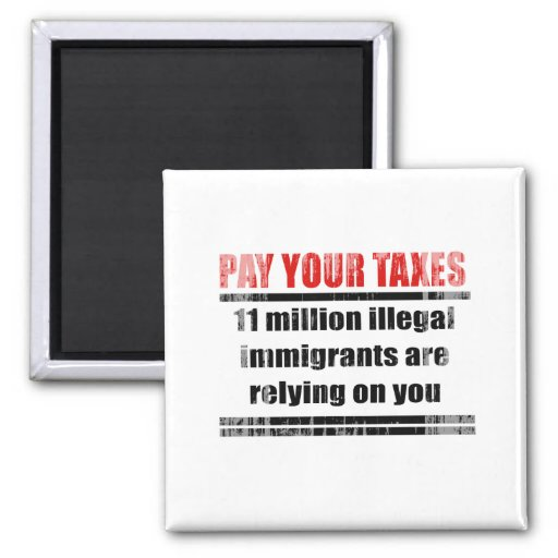 Pay your taxes Faded.png Fridge Magnet