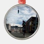Payaso alto de la bici de Portland Adorno De Navidad