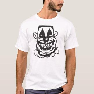 Payaso asustadizo, camiseta, hombres playera