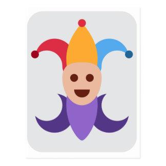 Payaso/bufón de rey Emoticon Twitter Postales