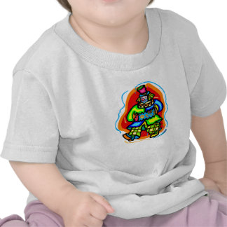 Payaso colorido del hobo camiseta