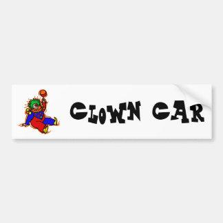 Payaso colorido pegatina para auto