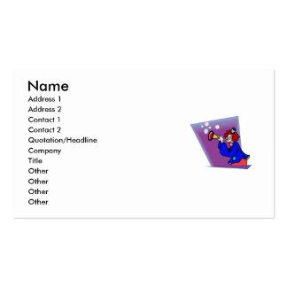 Payaso con el cuerno de la burbuja plantillas de tarjetas personales