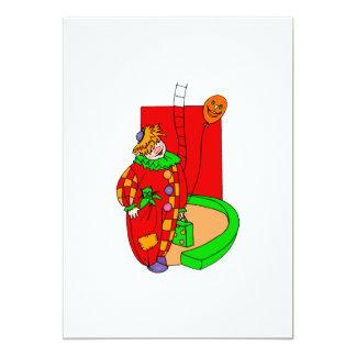 Payaso con el gatito en bolsillo invitación 12,7 x 17,8 cm