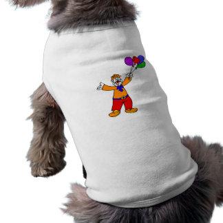 Payaso con los globos ropa de perro