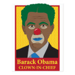 Payaso de Barack Obama Postales