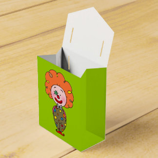payaso de circo anaranjado lindo del pelo cajas para regalos de boda