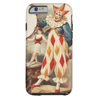 Payaso de circo colorido del vintage funda de iPhone 6 tough