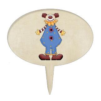 Payaso de circo colorido retro figura de tarta