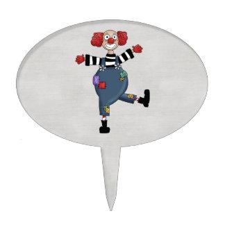 Payaso de circo colorido retro figuras de tarta