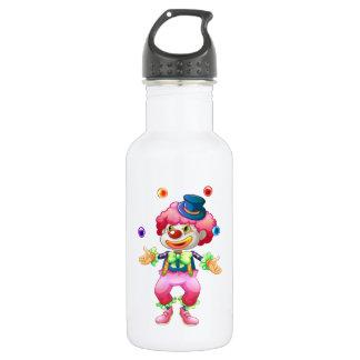 Payaso de circo colorido retro del fiesta de la botella de agua de acero inoxidable