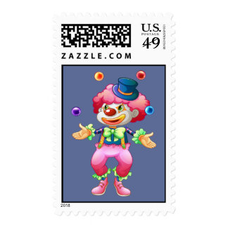 Payaso de circo colorido retro del fiesta de la di envio