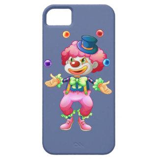 Payaso de circo colorido retro del fiesta de la iPhone 5 funda