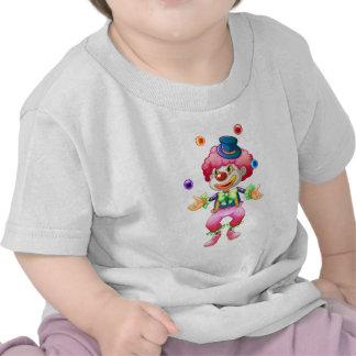 Payaso de circo colorido retro del fiesta de la camiseta