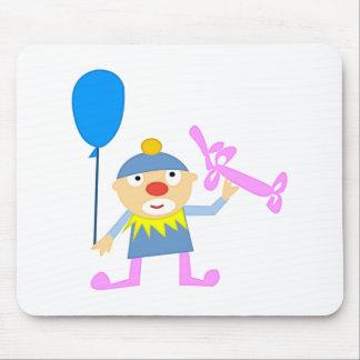 Payaso de circo con impulso tapete de ratones