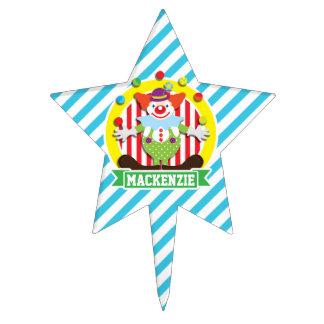 Payaso de circo del top grande que hace juegos decoraciones para tartas