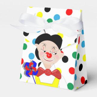 Payaso de circo divertido colorido lindo del caja para regalo de boda