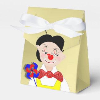 Payaso de circo divertido colorido lindo del cajas para regalos de boda