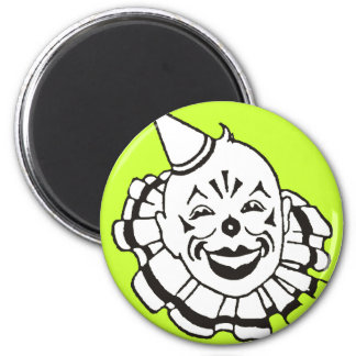 Payaso de circo imán redondo 5 cm