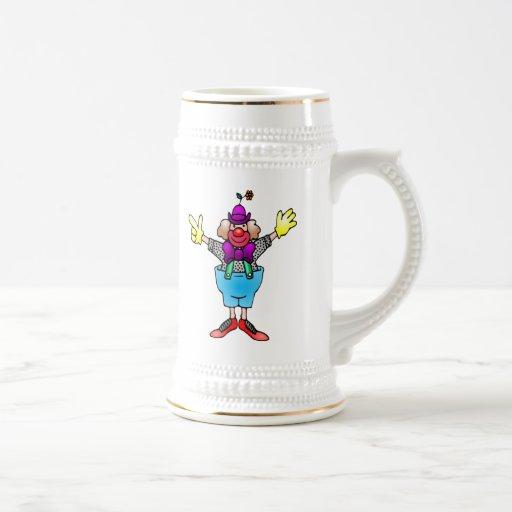 Payaso de circo tazas de café