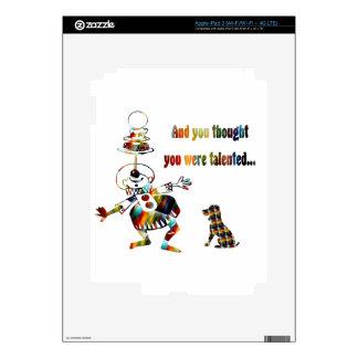 Payaso de circo y su perro pegatina skin para iPad 3