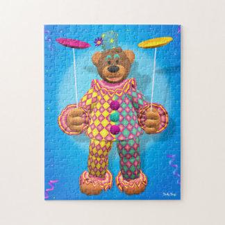 Payaso de giro de la placa pequeña de los osos puzzle con fotos
