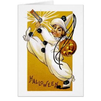 Payaso de Halloween del vintage Felicitación