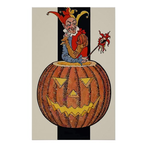 Payaso de Halloween Póster