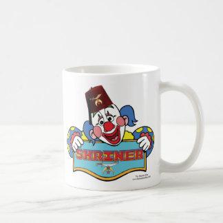 Payaso de la capilla taza de café