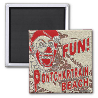 Payaso de la diversión de la playa de Pontchartrai Imán Cuadrado