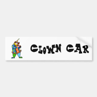 payaso de la flauta pegatina para auto