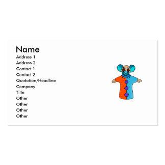 payaso de la marioneta de mano tarjeta de negocio
