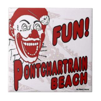Payaso de la playa de Pontchartrain Azulejo Cuadrado Pequeño