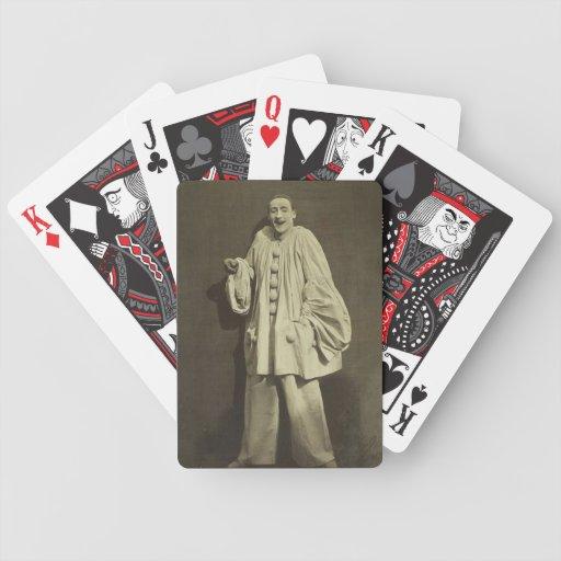 Payaso de Pierrot del vintage Cartas De Juego