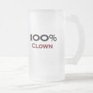 Payaso del 100 por ciento taza de cristal