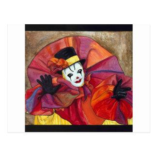 Payaso del carnaval tarjetas postales