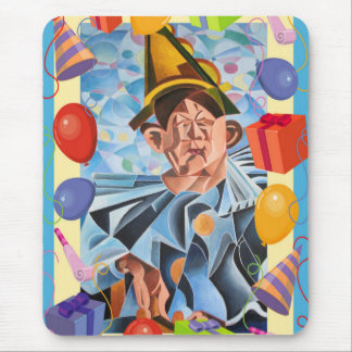 Payaso del cumpleaños alfombrilla de raton