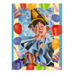 Payaso del cumpleaños postal
