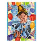 Payaso del cumpleaños postales
